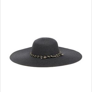 Black wide brim hat NEW